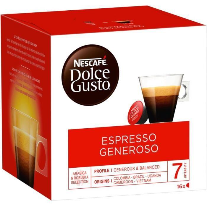 NESCAFE Café Dolce Gusto Espresso Generoso - 16 capsules - 112 g
