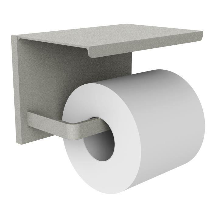 Distributeur papier WC avec étagère en alu laqué LOFT-GAME