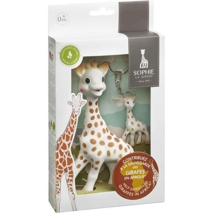 Coffret -Sauvons les girafes- Sophie la girafe + porte-clé Sophie la girafe