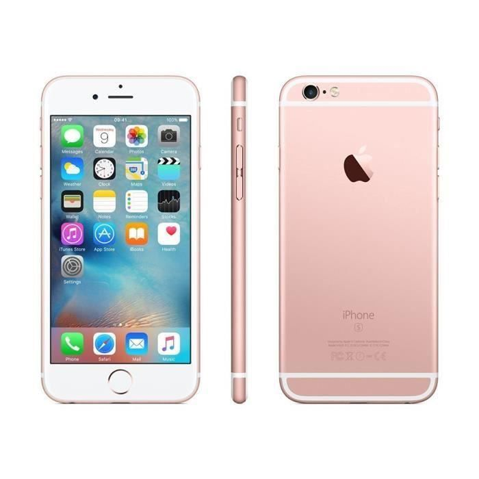 apple iphone 6s 64go smartphone d bloqu or rose reconditionn certifi achat smartphone. Black Bedroom Furniture Sets. Home Design Ideas