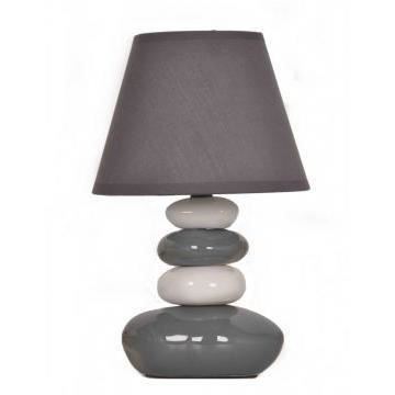 lampe de table galets gris et blanc achat vente lampe. Black Bedroom Furniture Sets. Home Design Ideas