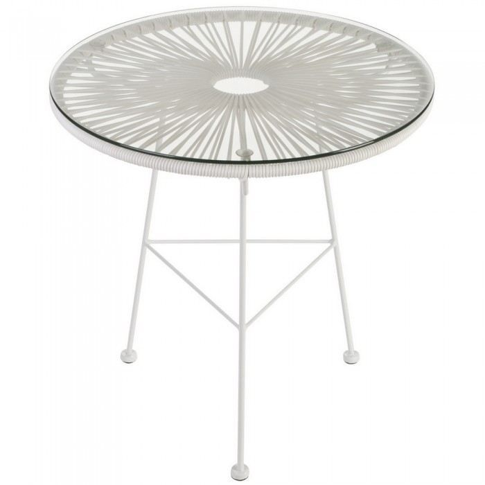 Table basse ronde Iris blanche Couleur Blanc Ma…