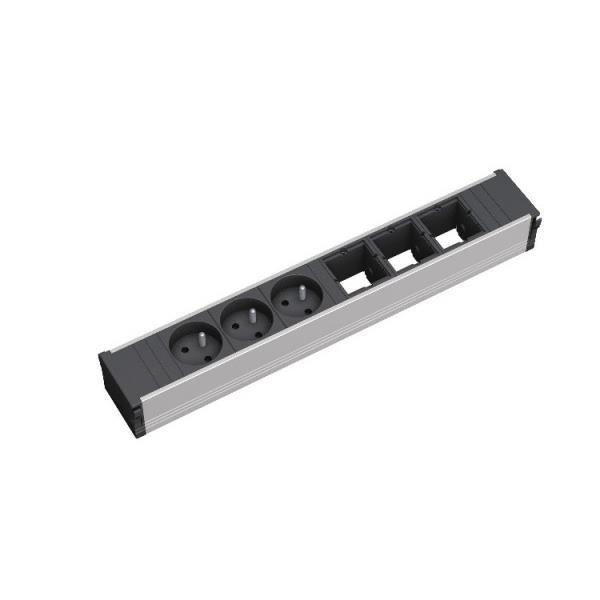 REV Supra-Line Multiprise PC Interrupteur 6 positions 3 m Câble Parasurtenseur