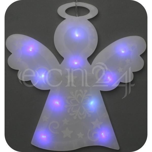 Decoration de fen tre ange rvb led piles achat vente for Led a pile pour deco
