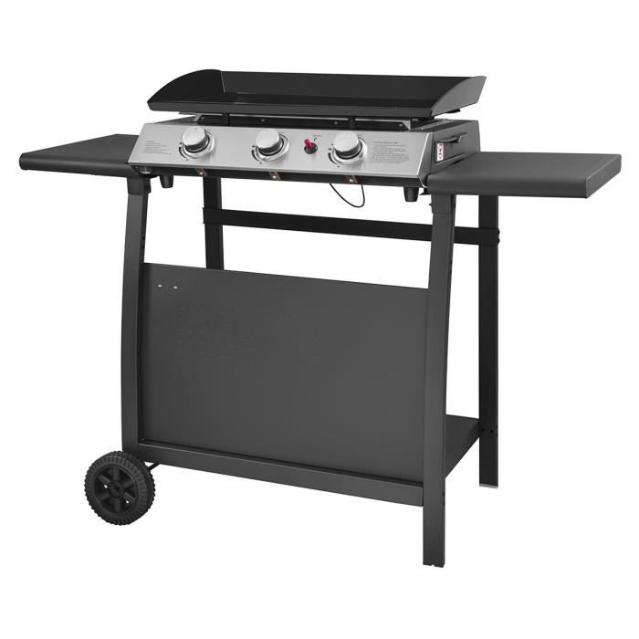 plancha barbecue gaz sur chariot achat vente plancha. Black Bedroom Furniture Sets. Home Design Ideas