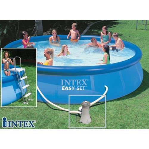 Piscine autostable intex 4 57 x 0 91 m achat vente kit for Piscine autostable
