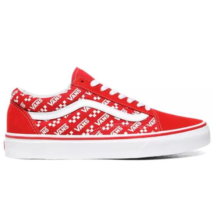 chaussures vans homme rouge