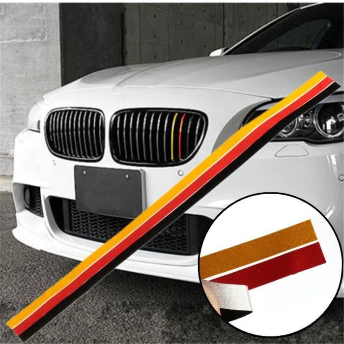Neufu 3pcs Grille Vinyle Autocollant Drapeau Allemagne Pour Bmw M3 M5 E46 E90