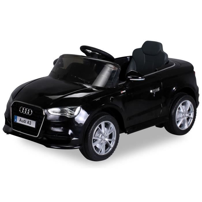mini voiture lectrique pour enfants audi a3 noir. Black Bedroom Furniture Sets. Home Design Ideas