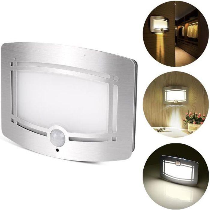 APPLIQUE   Détecteur de mouvement activé applique murale LED