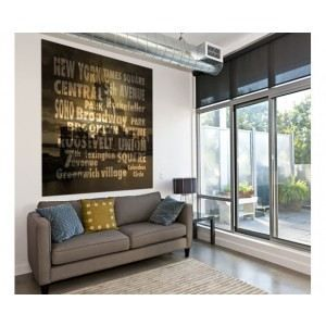 D cor mural new york words 150x150cm achat vente affiche cdiscount for Poster mural londres pas cher