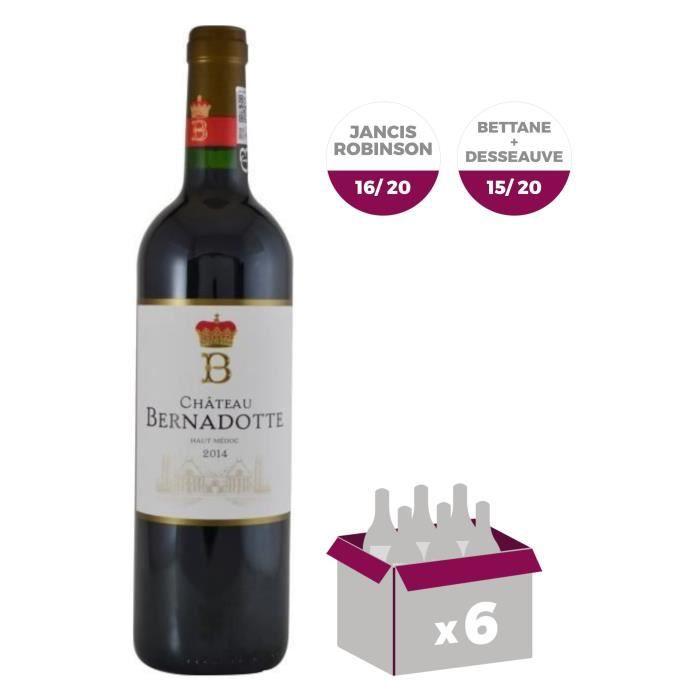 CHÂTEAU BERNADOTTE 2014 Haut-Médoc Grand Cru Classé de Bordeaux - Rouge - 75 cl x 6