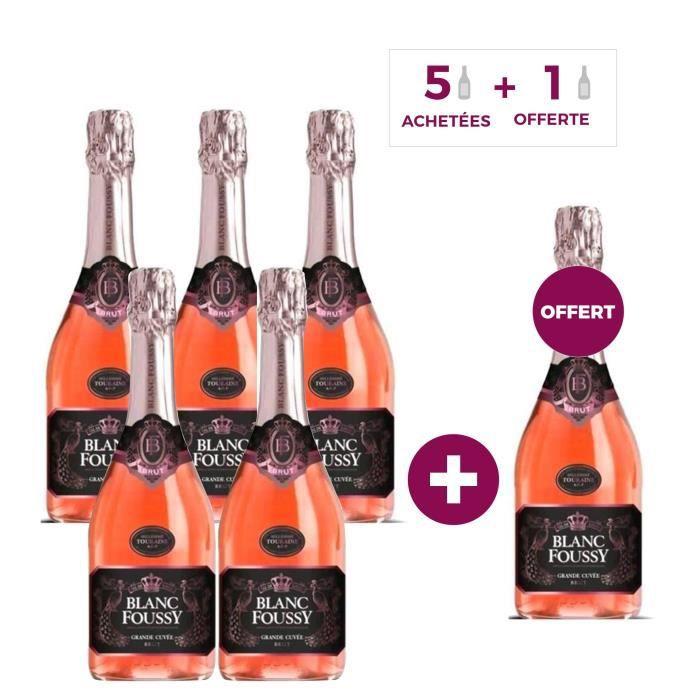 5 + 1 OFFERTE - Blanc Foussy Grande Cuvée Rosé 75 cl