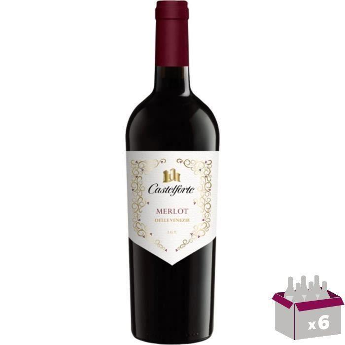 CASTELFORTE Merlot Vin d'Italie - Rouge - 75 cl x 6