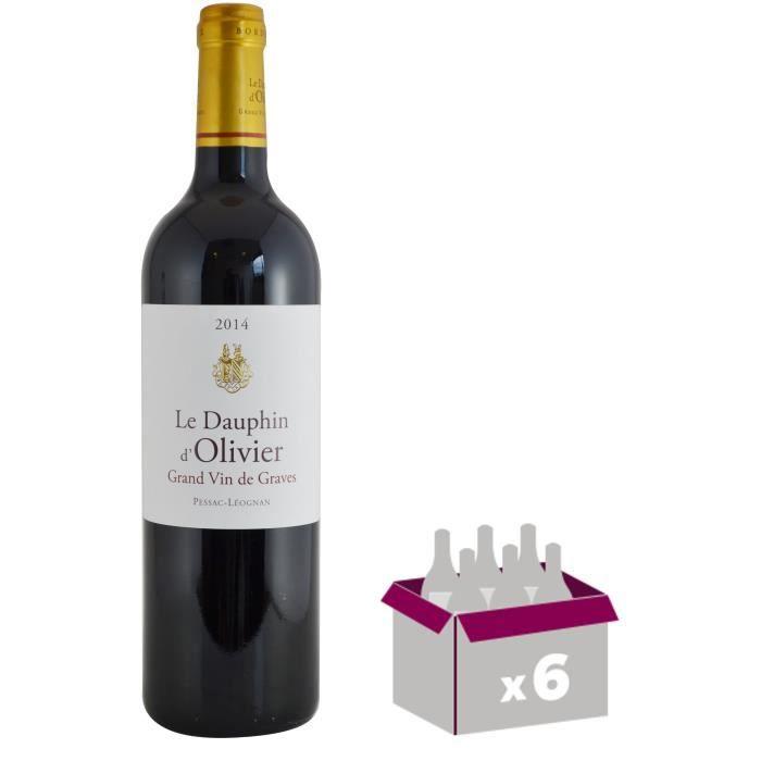 DAUPHIN D'OLIVIER 2014 Pessac Léognan Grand Cru Classé de Bordeaux - Rouge - 75 cl x 6