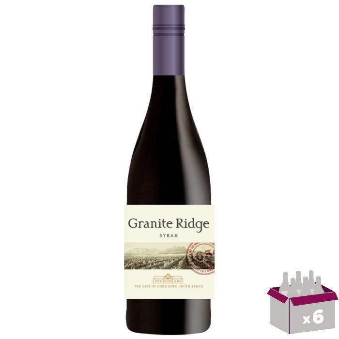Granite Ridge 2014 Syrah - Vin rouge d'Afrique du Sud