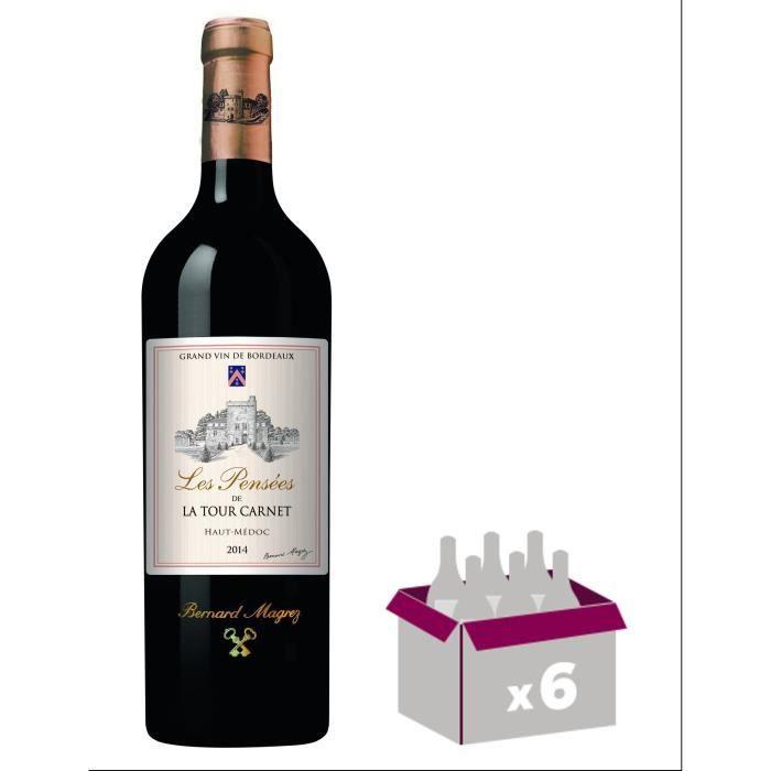 Les Pensées de La Tour Carnet 2014 Haut-Médoc Grand Cru - Vin rouge de Bordeaux