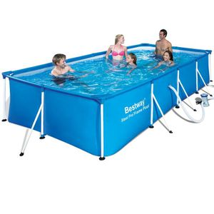 PISCINE BESTWAY Piscine rectangulaire tubulaire L4,00 x l2