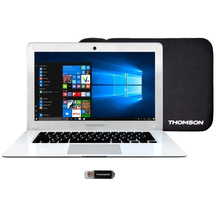 "ORDINATEUR PORTABLE THOMSON PC Portable 14"" - RAM 2Go - Intel BayTrail"