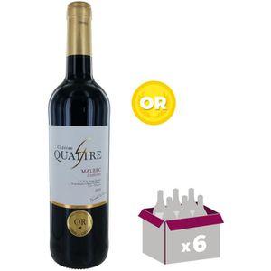 VIN ROUGE Château Quattre 2014 Cahors - Vin rouge du Sud Oue