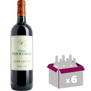 VIN ROUGE Château Segur de Cabanac Saint Estèphe 2014 - Vin