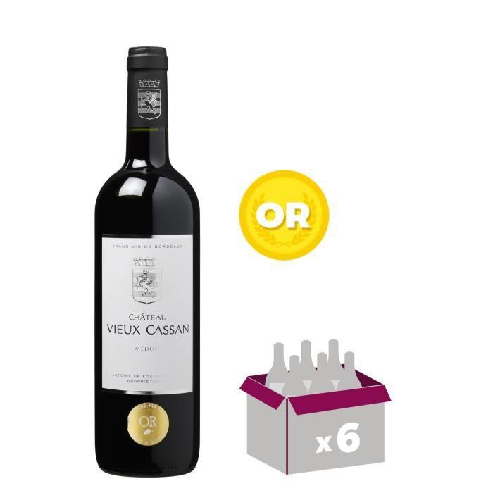 VIN ROUGE CHÂTEAU VIEUX CASSAN 2014 Médoc Vin de Bordeaux -