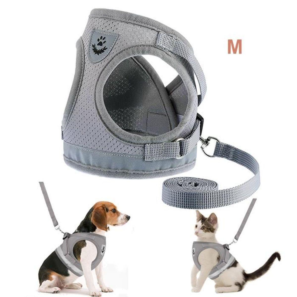 HARNAIS ANIMAL Harnais Doux Reglable avec Laisse pour chien et Ch