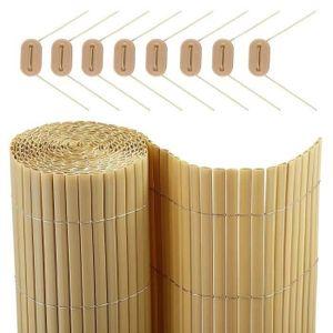 HAIE DE JARDIN CATRAL Canisse en PVC DF - 0,9 x 3m - Beige sable