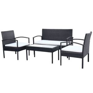 Salon de jardin canape fauteuil