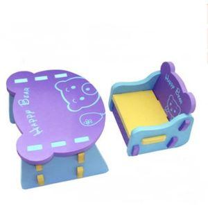 TABLE ET CHAISE Table et chaise ensemble Violet forme d'ours Mouss