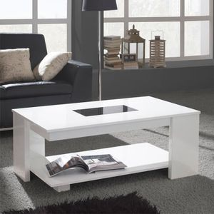 TABLE BASSE Table basse relevable blanche - DIPA  - Taille : L