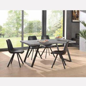 TABLE À MANGER SEULE Table à manger industrielle ELLENA 180x90 cm, effe