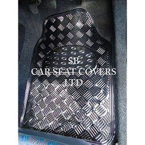 TAPIS DE SOL  Peugeot 207, effet plaque métallique carbone PVC