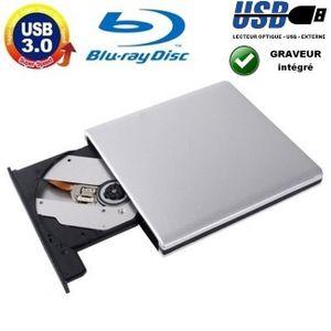 LECTEUR - GRAVEUR EXT. Lecteur Graveur USB 3.0 Externe - Aluminium DVD-RW