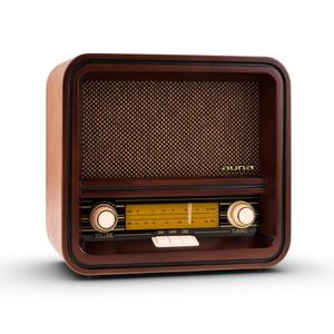 RADIO CD CASSETTE auna Belle Epoque 1901 - Poste radio rétro look vi