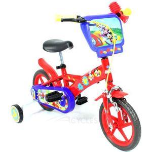 VÉLO ENFANT Vélo Enfant Disney Mickey Mouse 10 pouces Rouge...