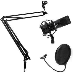 MICROPHONE - ACCESSOIRE Set studio avec micro USB + bras de fixation
