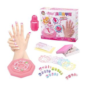 COIFFEUR - ESTHÉTIQUE Suite de stickers ongles colorés pour filles jouet