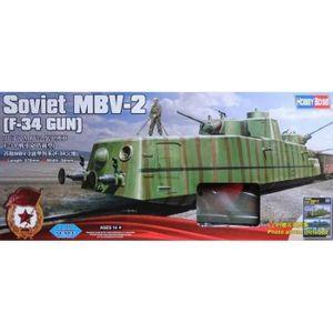 VOITURE À CONSTRUIRE Maquette Train Soviet Mbv-2  (f-34 Gun) - HOBBY BO
