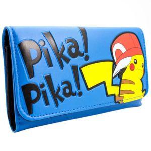 PORTE MONNAIE Nintendo Pokemon Pikachu bleu Monnaie et carte à t