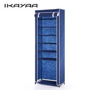 MEUBLE À CHAUSSURES iKayaa Meuble à Chaussures Bleu