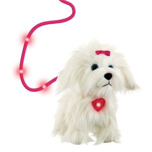 PELUCHE ANIMAGIC Chien  Fluffy en balade 2.0