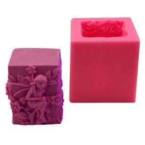 JER G/âteau de Silicone Moule 12 Cavity Fleur Herbe Forme Moules de Cuisson Fondant au Chocolat Savon Cupcake Ice Cube Plateaux Moule Rose Produits pour Maison//Cuisine