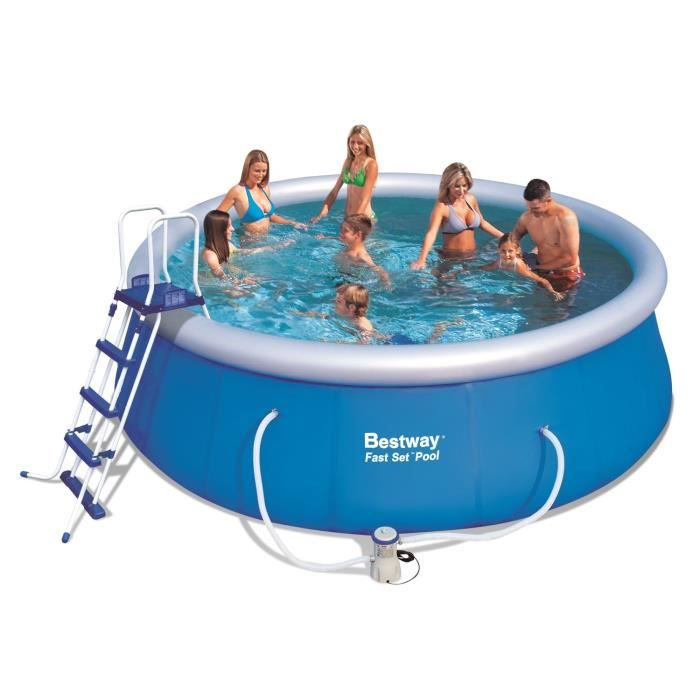 Kit piscine fast set pools autoportante 457x122cm achat for Achat piscine autoportante