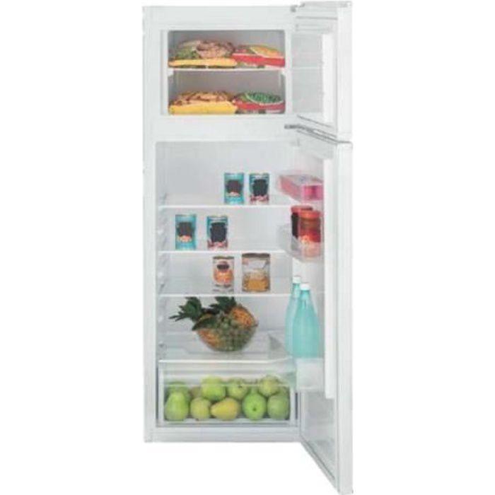 Akai AKFR243V-T Réfrigérateur-congélateur pose libre largeur : 54 cm profondeur : 57 cm hauteur : 144 cm 213 litres congélateur…