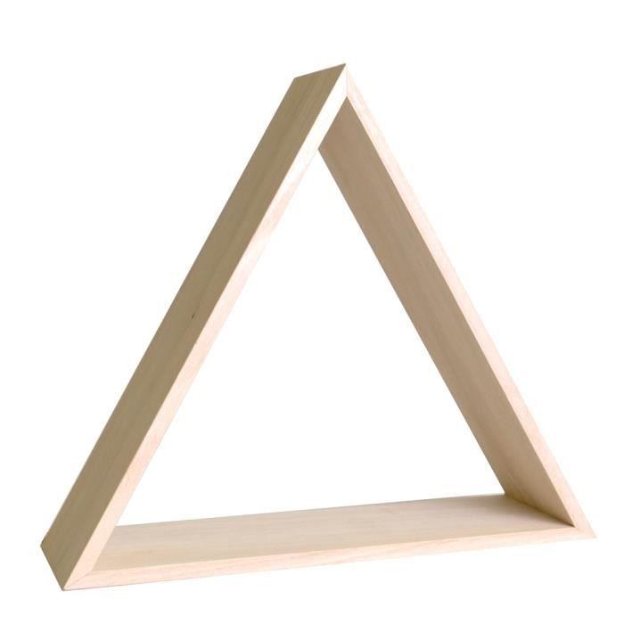 Étagère Triangle en Bois à customiser - Meuble Rangement