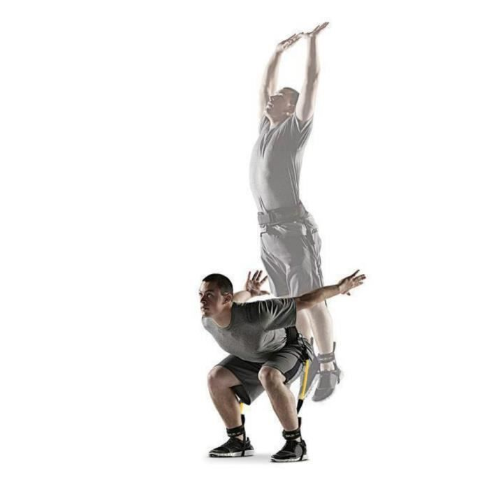 Vitesse et agilité Set d'entraînement avec ceinture - cheville brassard - résistance bande pour sauter formateur Leg Str D1QN5