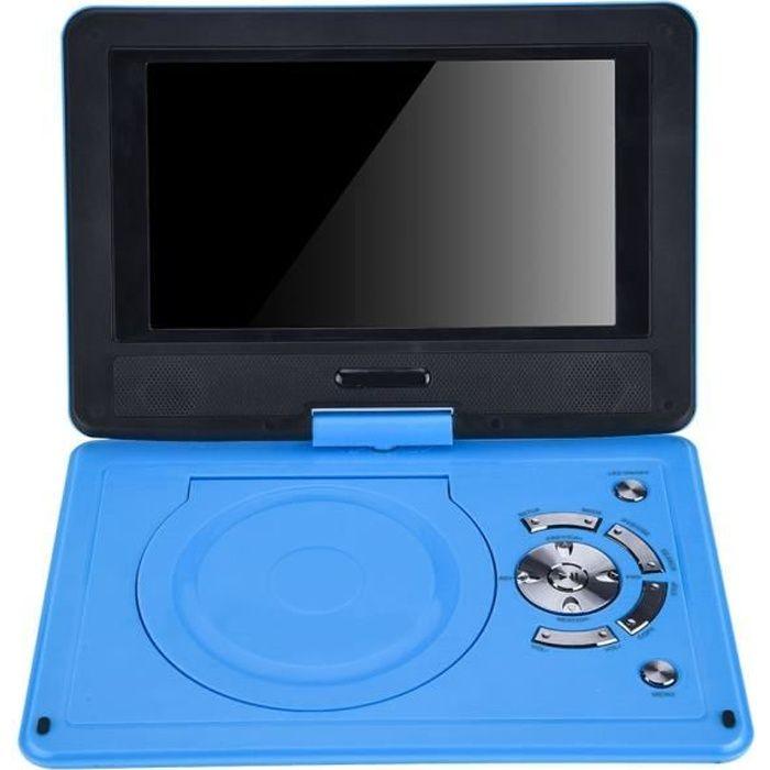 9,8 pouces portable haute définition pivotant écran lecteur DVD voiture VCD CD AVI (UE)