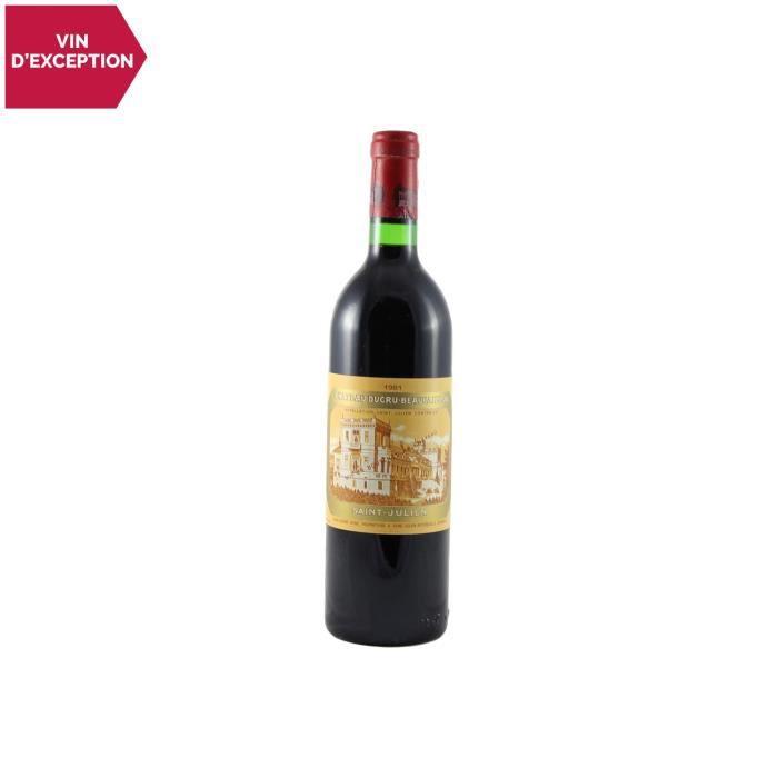 Château Ducru-Beaucaillou Saint-Julien 2ème Grand Cru Classé Rouge 1981 - 75cl - Vin AOC Rouge de Bordeaux - Cépages Cabernet
