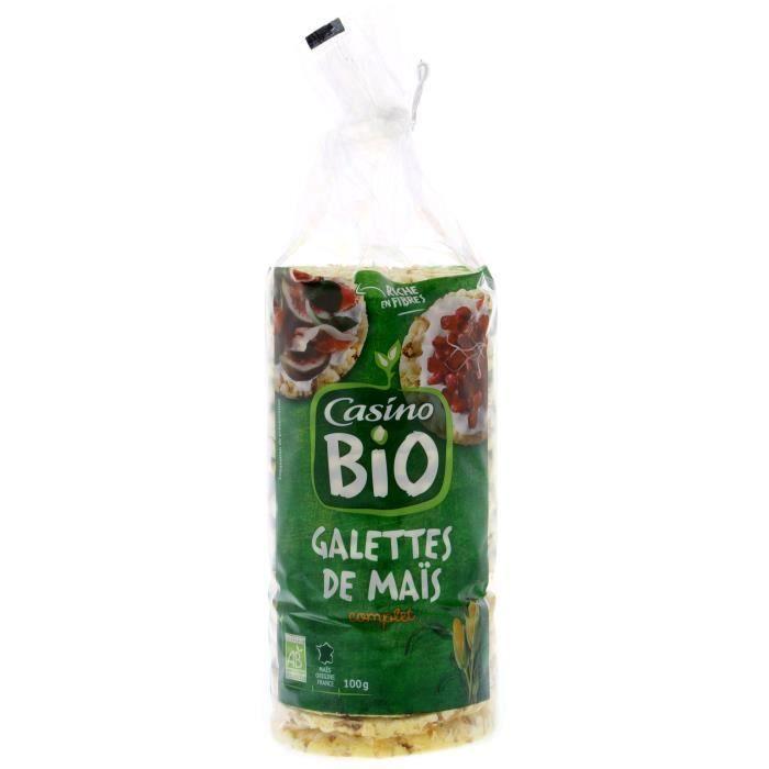 CASINO Galettes Mais Complet Bio - 100G